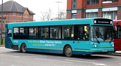 Arriva Midlands driver training vehicle  9501 V601 DBC in Derby Bus Station. (Gobbiner) Tags: 9501 derby arrivamidlands drivertrainingvehicle 3601 volvo alx300 alexander b10ble v601dbc