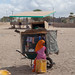 Somali girl selling stuff in a mobile shop, Woqooyi Galbeed region, Hargeisa, Somaliland
