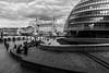 London       Tower Bridge and City Hall (JB_1984) Tags: towerbridge cityhall thescoop morelondon riverthames river thames curve blackandwhite bw mono city urban queenswalk southwark londonboroughofsouthwark london england uk unitedkingdom nikon d500 nikond500