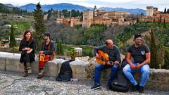 Spain: Granada, Alhambra view (Henk Binnendijk) Tags: spanje españa andalusia granada spain andalucía andalucia alhambra miradordesannicolás viewpoint tourists people candid miradordesannicolas