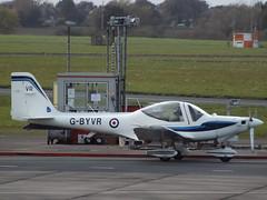 G-BYVR Grob Tutor G-115E Babcock Aerospace Ltd (Aircaft @ Gloucestershire Airport By James) Tags: gloucestershire airport gbyvr grob tutor g115e babcock aerospace ltd egbj james lloyds