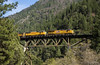 ZNPOA at Rock Creek Trestle (Patrick Dirden) Tags: up7983 c45ah gevo ge generalelectric diesel locomotive engine rail railroad train freighttrain containertrain stacktrain up unionpacific unionpacificrailroad upcanyonsubdivision rockcreektrestle trestle storrieca plumascounty featherrivercanyon sierranevada northerncalifornia california