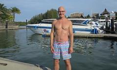 The Free Reefills (Stretch) (Chris Hunkeler) Tags: royalphuketmarina chrishunkeler crystalseamarine marina man shirtless chubbies