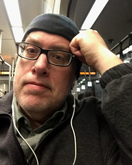 Day 2271: Day 81: On the Light Rail (knoopie) Tags: 2018 march iphone picturemail doug knoop knoopie me selfportrait 365days 365daysyear7 year7 365more day2281 day81