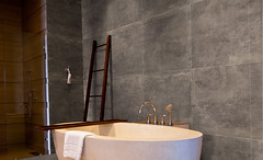 Bathroom interior (ArchVendas) Tags: bathroom hotel shower end high white bathtub marble towel seat luxury light clean luxurious modern wash wall mirror design architecture interior faucet thailand