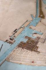 Port Saïd sur le Plan-relief du canal de Suez (Institut du Monde Arabe, Paris)