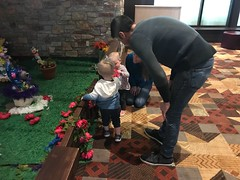 "Kai Gives a Flower to Dani at Great Wolf Lodge • <a style=""font-size:0.8em;"" href=""http://www.flickr.com/photos/109120354@N07/40429315034/"" target=""_blank"">View on Flickr</a>"