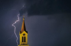 ... (bojanstanulov) Tags: lightning light church night nightphotography city cityscape
