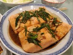 Julia's sous-vide salmon (avlxyz) Tags: fb salmon fish sousvide ginger soysauce springonion scallions