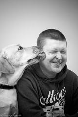 So tasty! (tsypien) Tags: dog dogs tasty love pet animal blacandwhite portrait friends friendship