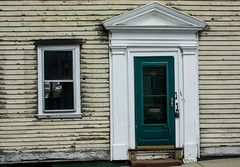 Crooked and weathered (Rabican7) Tags: newengland newport house wooden door crooked weathered window architecture structure pillars doric downtown details rhodeisland vanessaviolet