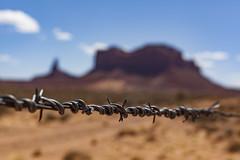 (o texano) Tags: arizona utah monumentvalley desert west navajonation navajo barbedwire