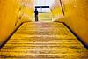The Luchtsingel (part 2) (Rosetta Bonatti (RosLol)) Tags: netherlands olanda rosettabonatti roslol rotterdam luchtsingel yellow bridge wooden pedestrian architecture architettura giallo man uomo street streetphotography