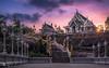 Wat Kaew Ko Wararam - The white temple (Bilderschmied-Danz) Tags: krabi thailand temple tempel watkaewkowararam derweisetempel whitetemple buddhismus buddhism sunset sonnenuntergang wolken clouds sun sonne bilderschmied sky architecture totallythailand