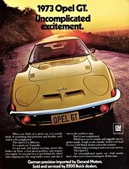 1973 Opel GT (U.S. Ad) (aldenjewell) Tags: 1973 opel gt ad