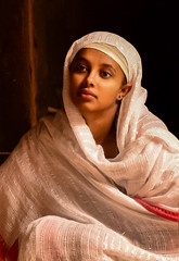 Tigray Woman (Rod Waddington) Tags: africa african afrique afrika äthiopien ethiopia ethiopian ethnic etiopia ethnicity ethiopie etiopian tigray lalibela woman pilgrim shamma orthodox christianity christian church portrait people candid beauty