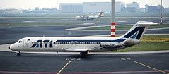 DC-9 | I-RIZR | AMS | 19910425 (Wally.H) Tags: mcdonnell douglas dc9 irizr ati aerotransportiitaliani ams eham amsterdam schiphol airport