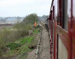 Men in Orange (Chris Baines) Tags: 47580 saxmundham ground frame charity railtour mayflower