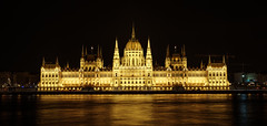 Classic view of the Parliament in Budapest (Four Lights Photography) Tags: budapest hungary parliament night lights darkness architecture historical politics danube longexposure building országház travel nightscape cityscape panorama
