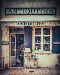 Antiquites (Ro Cafe) Tags: facades urban street showcase storefront france iledere textured nikkor2470f28 nikond600