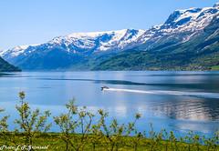 Sørfjorden , Hardanger (2000stargazer) Tags: sørfjorden hardanger ullensvang aga norway fjord mountains snow spring landscape waterscape nature visitnorway canon