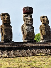 Tongariki Three of the Ten Maoi Archeological Site Easter Island Chile (Barbara Brundage) Tags: tongariki three ten maoi archeological site easter island chile
