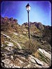 Street Lamp on a Mountain Slope (Vanessa Vox) Tags: streetlamponamountainslope streetlamp drômeprovençale france lepègue mountain street