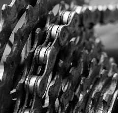 #104 In need of a clean (tokyobogue) Tags: tokyo japan nikon nikond7100 d7100 tokina tokina100mmf28atxprod blackandwhite blackwhite monochrome bicycle cog cassette chain dirty sprocket gears 365project roundshapes flickrfriday