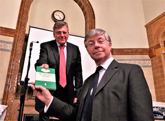 And the winner is Peter Horrocks, who receives a Holmesian notebook as his prize (photo by Jean Upton)