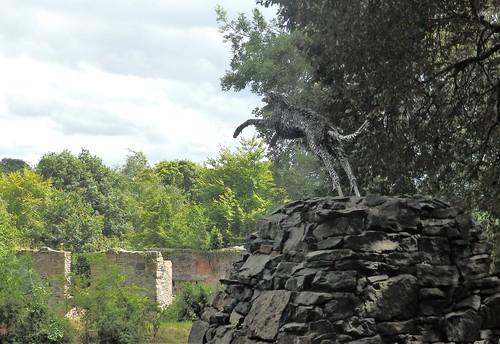 Dog Leap sculpture