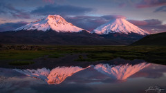 Pleasant calm (Andres Puiggros) Tags: arica caquena parinacota payachatas pomerape reflection reflejo sunset lauca nikon d500 benro