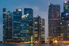 Evening, Downtown (Bernard Yeo) Tags: blue citylights marina pentax singapore twilight smcpentaxfa77mmf18limited