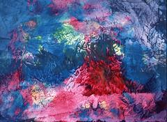 Sealife - Monotype (gripspix) Tags: monotype monotypie steinpapie stonepaper boesner acrylic acryl primarycolors viscousfingereing fractal fraktal abstract abstrakt primärfarben 20180331 art kunst eigenart texture textur