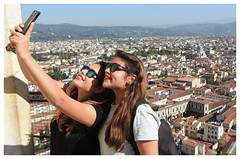 Beautiful Italy (The Stig 2009) Tags: florence firenze tuscany italy girl woman women sexy females friends girls holiday long hair big sunglasses glasses beauty red lips boobs stunning gorgeous skyline mountains blue sky