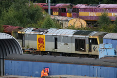 60090, Toton, August 4th 2017 (Southsea_Matt) Tags: 60090 ews dbs class60 brush type5 totondepot nottinghamshire england unitedkingdom summer 2017 august canon 80d 100400mm diesellocomotive train railway transport scrapline derelict redundant northbank northyard