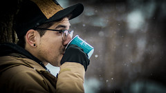 reuse reduce recycle (CoolBotts) Tags: candid forest spring winter snow coffee