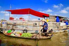 Cai Be, Vietnam (Imagin.air) Tags: floatingmarket boat river market fruit