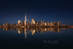 New York City Panorama. View of Manhattan Skyline at night. Manhattan, New York City, USA. (Daniel Viñe fotografia) Tags: new york city skyline night manhattan building state empire cityscape river urban midtown america travel architecture evening famous landmark usa panorama view blue brooklyn light nyc reflection financial united