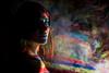 Lyon (Renaud Alouche) Tags: body projection colors light lights color face smile nude hair look eyes eye woman beautiful smog fog rays dark shooting lyon nikon d750 50mm