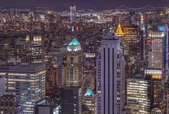 NYC (karinavera) Tags: city longexposure night photography cityscape urban ilcea7m2 sunset nyc topoftherock aerial newyork view