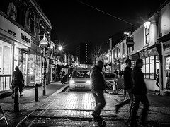 Sydney Street - EXPLORED (amipal) Tags: 175mm brighton city england gb greatbritain night northlaine sussex uk unitedkingdom urban voigtlander