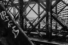 Viaduc de la Villette (Do Saulnier) Tags: paris canal de lourcq rail structure metal tag graffitis villette