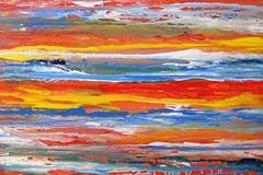 a stormy day at the beach (Peter Wachtmeister) Tags: artinformel mysticart modernart popart artbrut phantasticart minimalart abstract abstrakt acrylicpaint surrealismus surrealism hanspeterwachtmeister