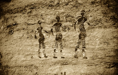 083-Algeria-Sefar (tomorme) Tags: persone preistoria pittura algeri tassilli viraggio