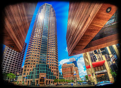 Perfectly Framed (Michael F. Nyiri) Tags: downtownlosangeles losangeles building california southerncalifornia architecture unitedcaliforniabankbuilding