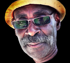 (daystar297) Tags: streetportrait portrait man face closeup people hat sunglasses black africanamerican nikon