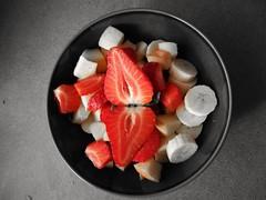 Fruit Salad (daveandlyn1) Tags: fruitsalad strawberry apples banana grapes smartphone huawei pralx1