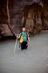 Walking The Narrows (donna_0622) Tags: narrows zion water park walking stick nikon d750