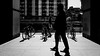 In Perspective (Sean Batten) Tags: london england unitedkingdom gb streetphotography street blackandwhite bw people light shadow ricoh ricohgr docklands canarywharf eastlondon