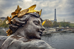 Nymph of the Seine (fesign) Tags: parisfrance skyline archbridge architecture bridgebuiltstructure buildingexterior capitalcities city cityscape cloudsky colourimage day eiffeltower europe famousplace france frenchculture gold horizontal humanrepresentation iledefrance internationallandmark landscape monument nopeople nymphsoftheseine outdoors panoramic photography pontalexandreiii riverseine scenics sculpture statue symbol tourism tower travel traveldestinations westerneurope